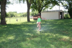 Jumpin the sprinkler!!!!